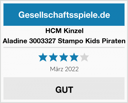 HCM Kinzel Aladine 3003327 Stampo Kids Piraten Test