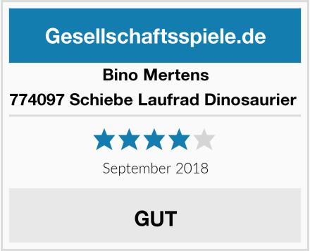 Bino Mertens 774097 Schiebe Laufrad Dinosaurier  Test
