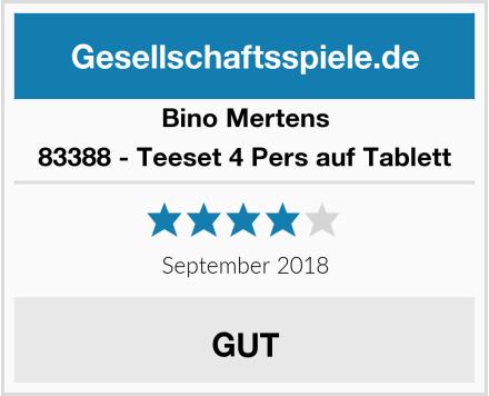 Bino Mertens 83388 - Teeset 4 Pers auf Tablett Test