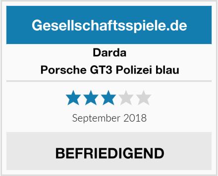 Darda Porsche GT3 Polizei blau Test