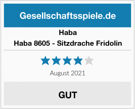 Fridolin GmbH Haba 8605 - Sitzdrache Fridolin Test