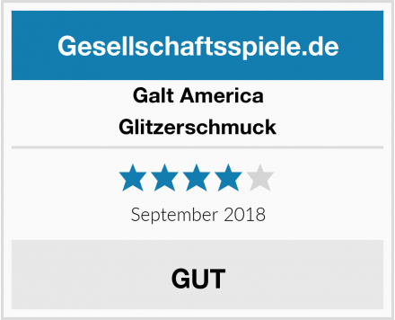 Galt America Glitzerschmuck Test