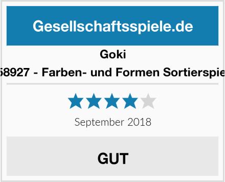 Goki 58927 - Farben- und Formen Sortierspiel Test