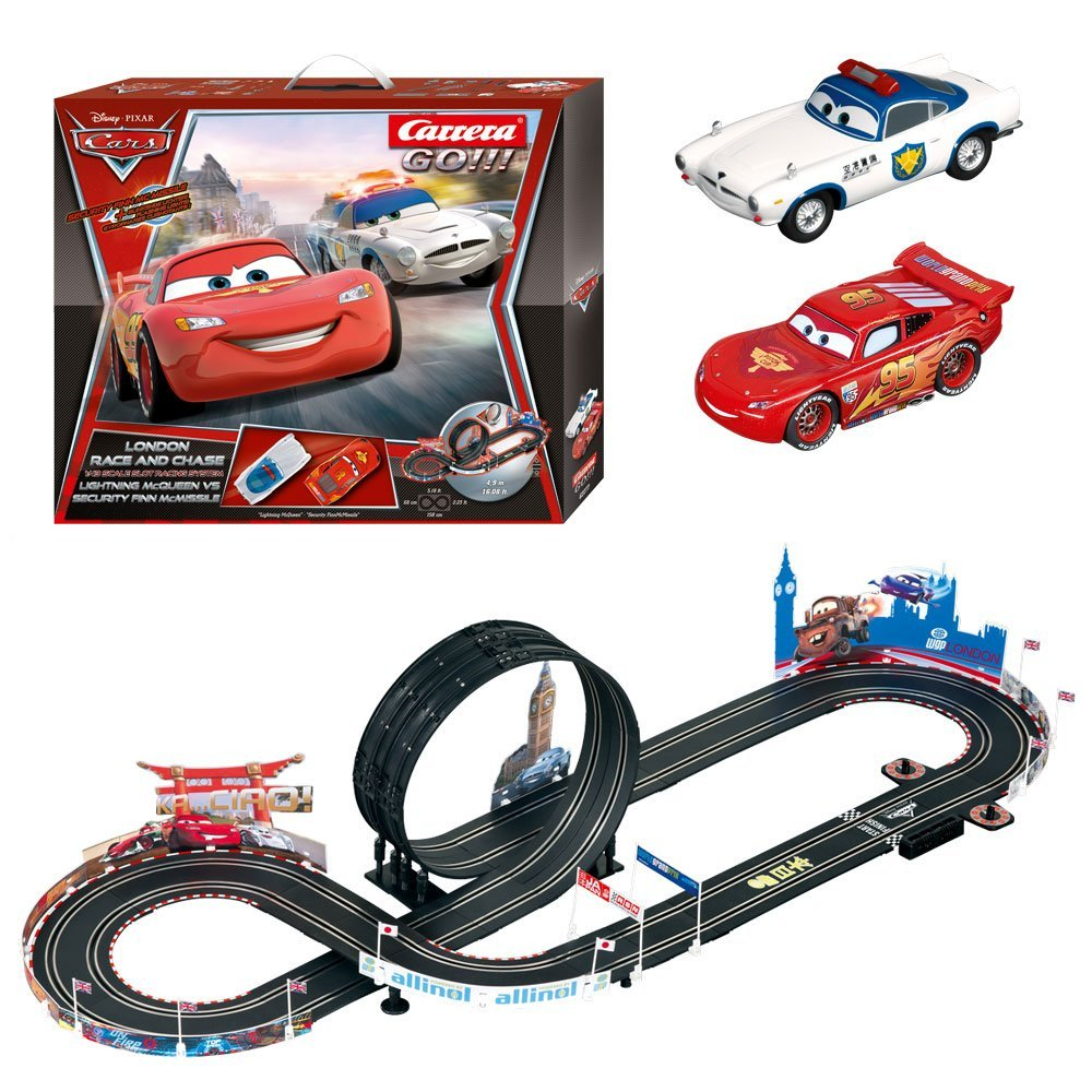 carrera go disney cars london race und chase. Black Bedroom Furniture Sets. Home Design Ideas
