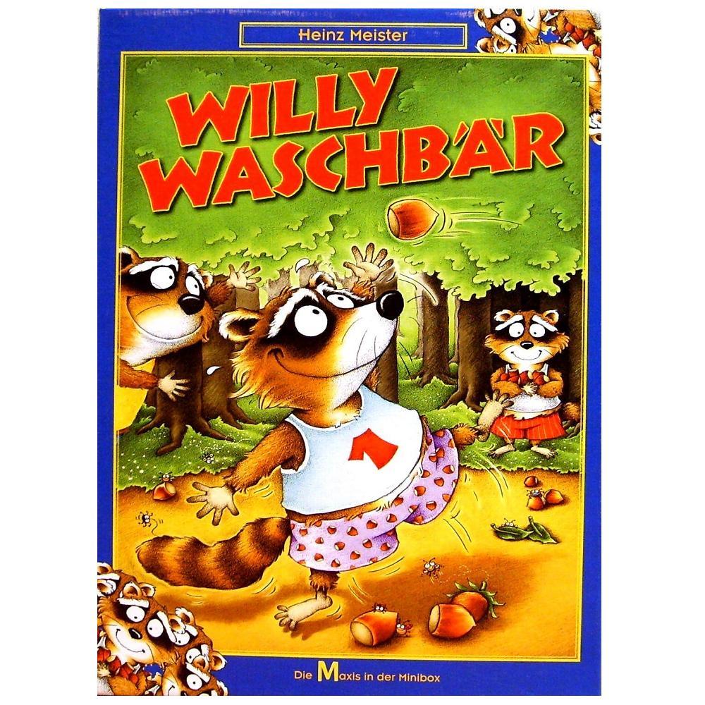 Goldsieber Willy Waschbär