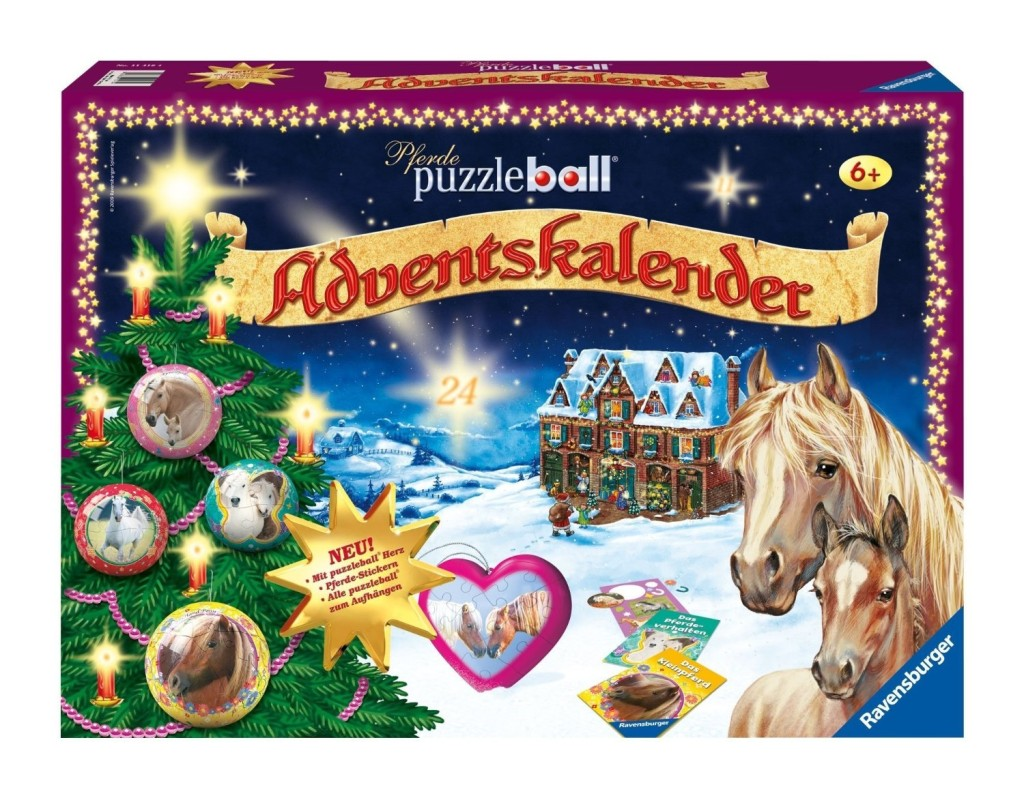 ravensburger puzzleball adventskalender pferde. Black Bedroom Furniture Sets. Home Design Ideas