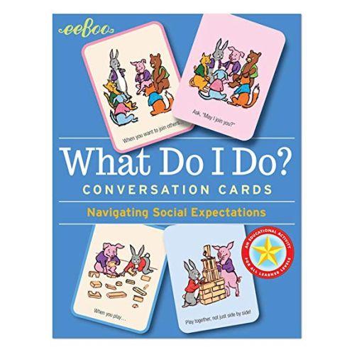eeBoo Flash Cards What Do I Do