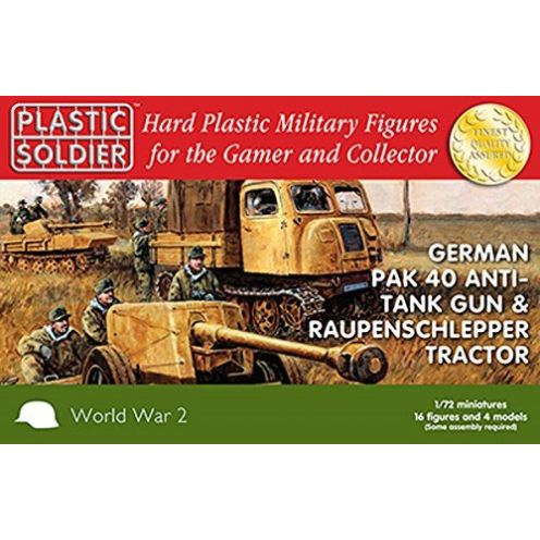 Plastic Soldier Company 1/72nd German Pak 40 and Raupenschlepper tractor