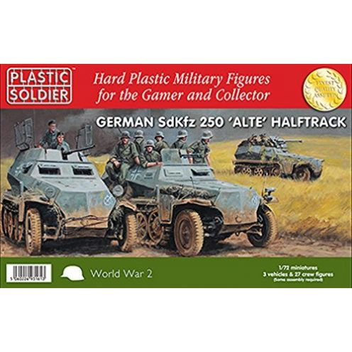 Plastic Soldier Company 1/72nd SdKfz 250 alte halftrack