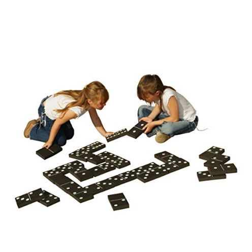 Traditional Garden Games Jumbo Black & White Dominoes