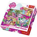 Trefl 34153 - Puzzle 4-in-1 My Little Pony