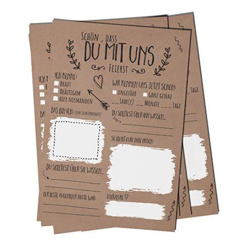 bigdaygraphix Hochzeitsspiel 52 Postkarten