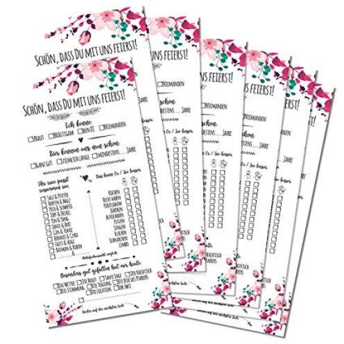 Partycards Hochzeit Spiel 52 Karten