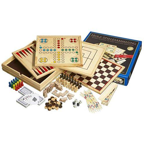 Philos Spiele 9960 - Holz-Spielesammlung