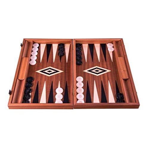 Manopoulos 'Wenge' Backgammon Set