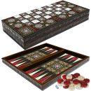 PrimoLiving Deluxe Holz Backgammon