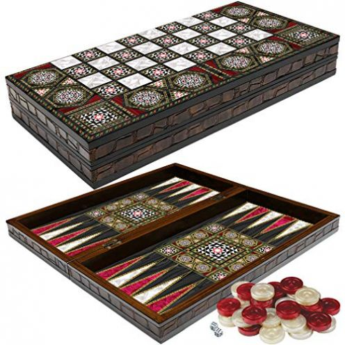 PrimoLiving Deluxe Holz Backgammon
