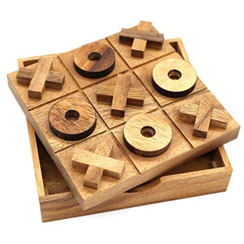 BSIRI Tic Tac Toe Holz-Familienspieltisch