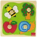 Jumbo Biene, Apfelbaum und Schnecke