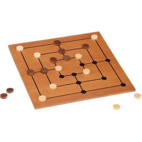 Philos Spiele Mühle-Set mit klappbarem Spielbrett